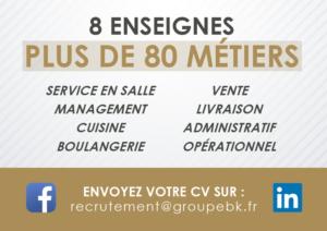 Groupe BK : 8 enseignes, plus de 80 métiers recrutés